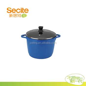 Korean Blue Deep Soup Pot With Bakelite Handle Buy Soup