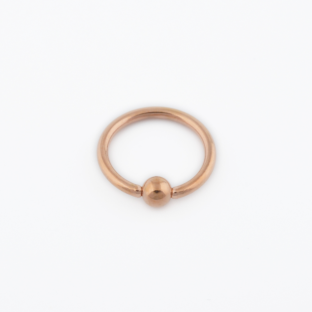 Factory price 16g titanium captive hoop bead ring BCR eyebrow tragus nose lip rings jewelry