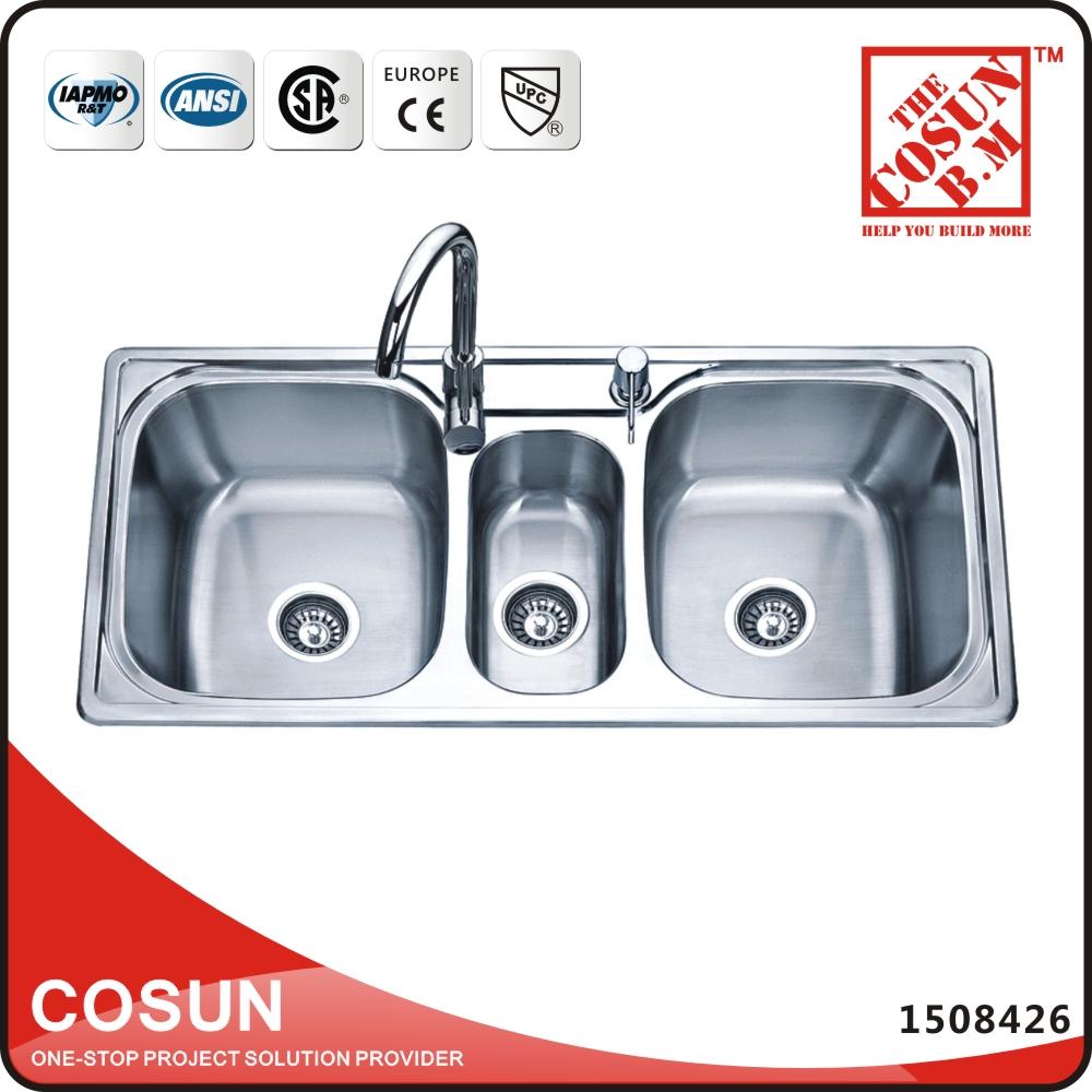 Three bowl kitchen sink three bowl kitchen sink suppliers and three bowl kitchen sink three bowl kitchen sink suppliers and manufacturers at alibaba workwithnaturefo