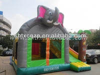 inflatable jumping bed/inflatable bouncer with slide for kids and adults