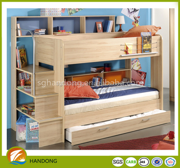 Fashionable Wooden Kids Double Deck Bunk Beds