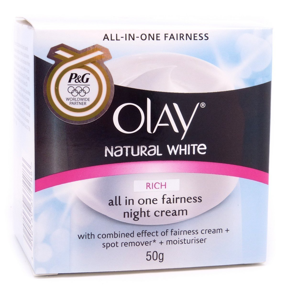 New Olay Natural White Night Cream Fairness 50 G New Made in Thailand