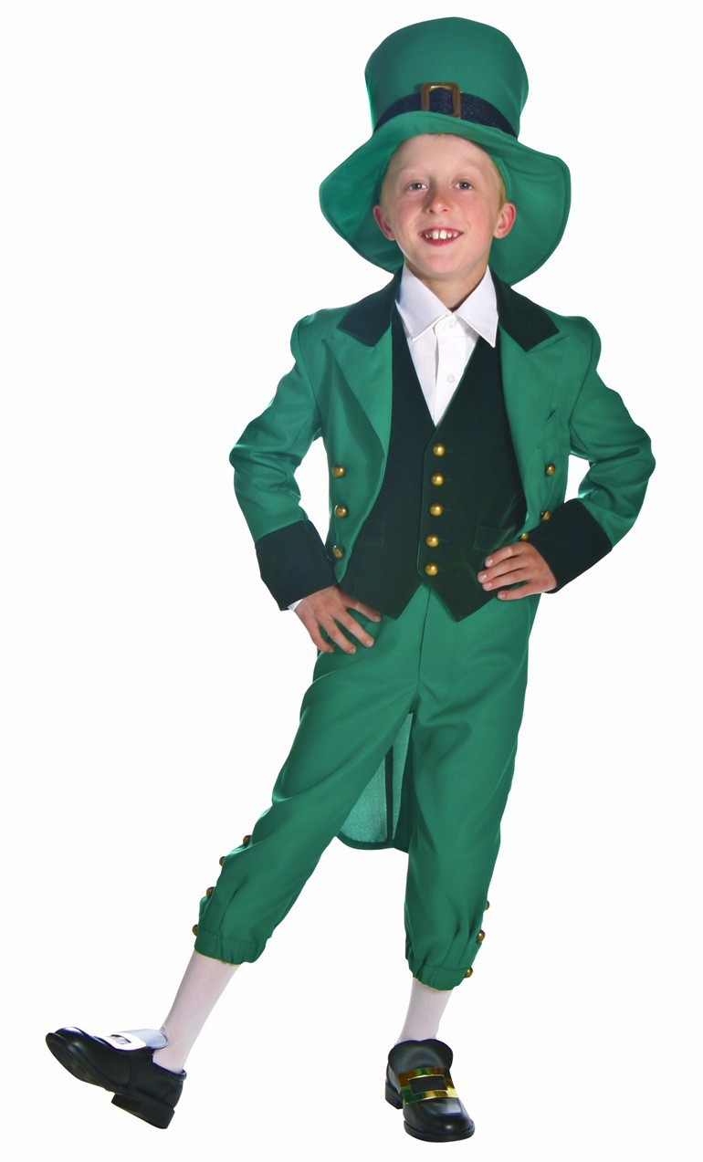 495383d5294f Free shipping Irish Leprechaun + Hat Boys and mens Fancy Dress St Patricks  Kids Childs Costume Outfit