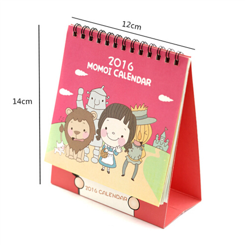 Calendar Kawaii Cartoon Animal Calendar Desk Standing Paper Calendar Multifunction Schedule Planner Notebook Sale Overall Discount 50-70%
