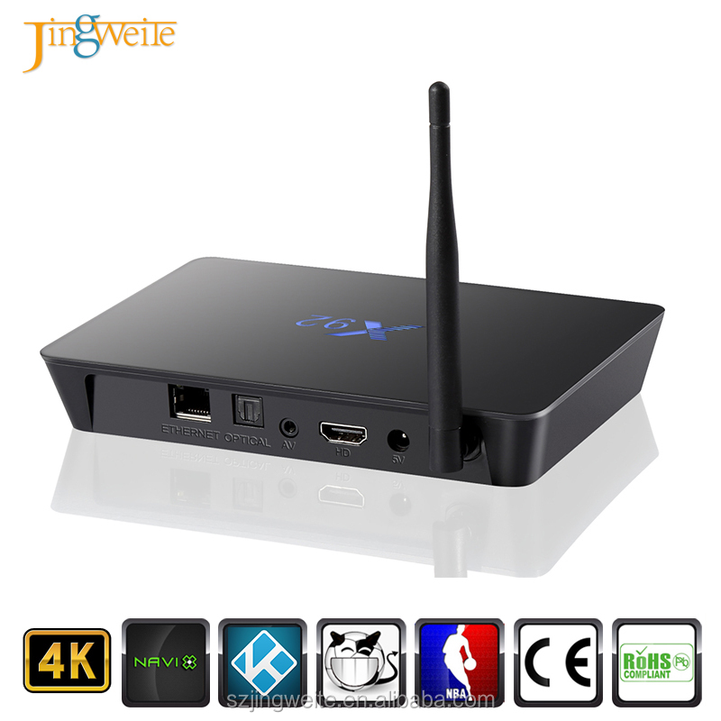 "2017 hot selling amlogic s912 smart stream tv box Octa Core option 64GB 7.0"" android smart tv box"