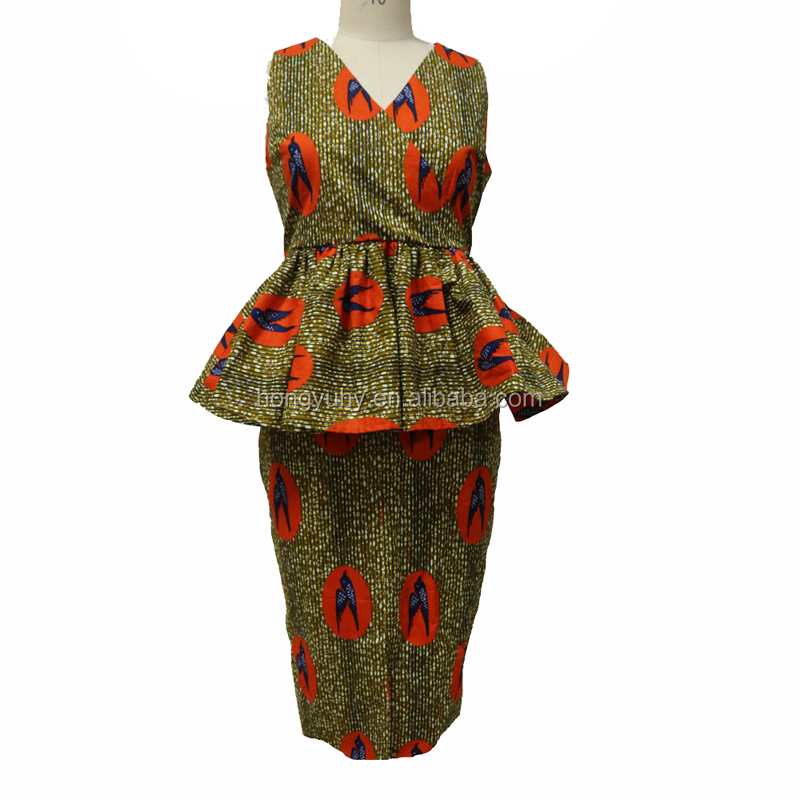 ZH-035 African wrap top and skirt designs two pieces skirt set women wholesale