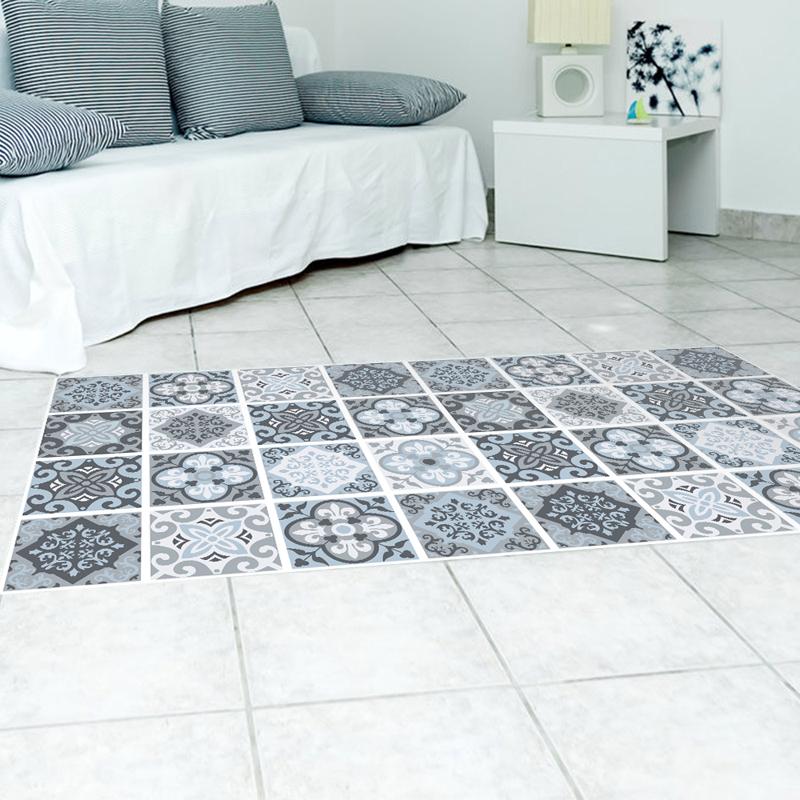 Blau Grau Mediterranen Stil 3d Pvc Boden Aufkleber Fliesen