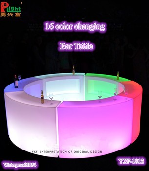 Used Bar Furniture Glowing Bar Tables Led Poseur Table