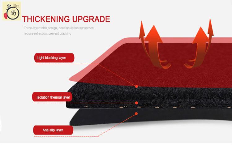Customized logo new material microfiber leather car dash board cover for auto accessories
