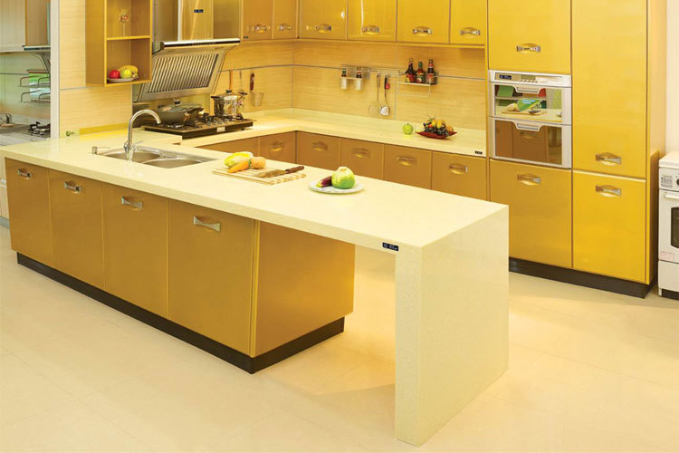 Warmly yellow lacquer kitchen cabinet buy yellow lacquer for Kitchen cabinets 700mm