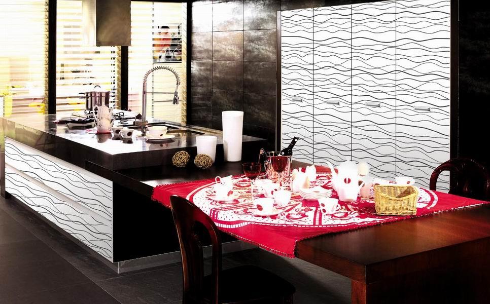 Popular moderna chapa de madera gabinete de cocina modular en la ...