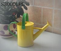 Yellow garden metal decorative kids watering can