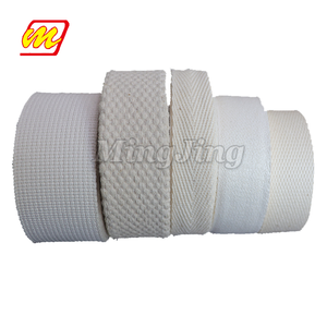 Factory Outlet Heavy Duty Woven Custom Striped Herringbone 2 Inch Cotton Webbing Tape Strap Belt Rolls For Bags