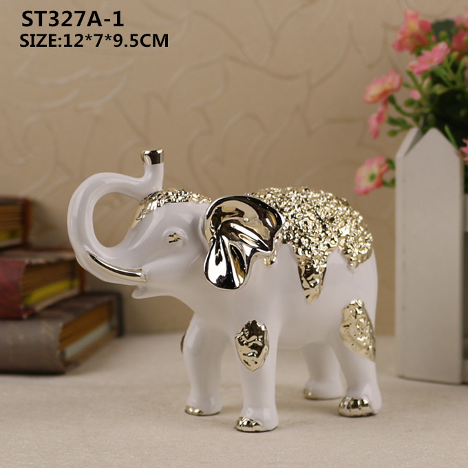 Handmade decoration craft resin animal statue lovely couple elephant figurine