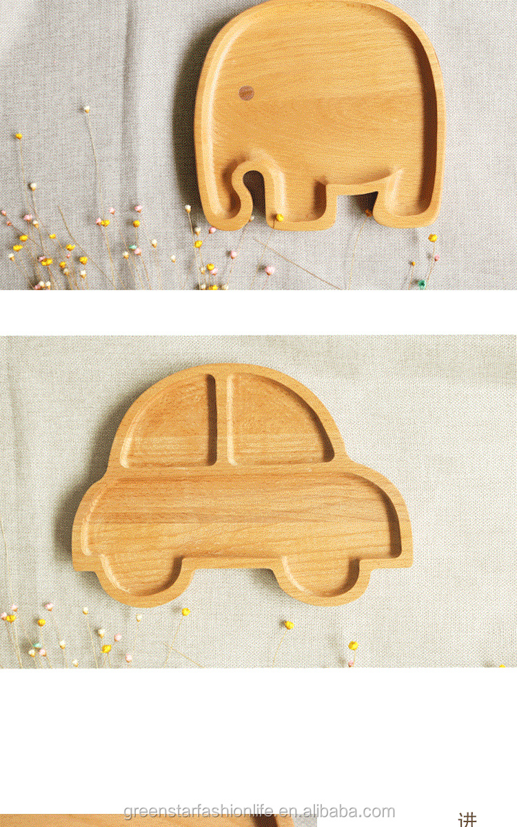 beech wood child tray wooden food tray  wooden table tray