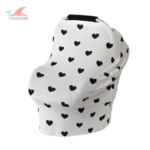 Factory wholesale customize soft breathable high quality cotton baby car seat cover nursing