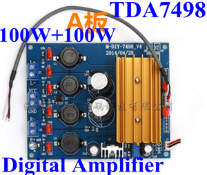 TDA7498 Digital Audio Power Amplifier Circuit Board HIFI CLASS D better  than TA2020 100W+100W for active speaker with LM317