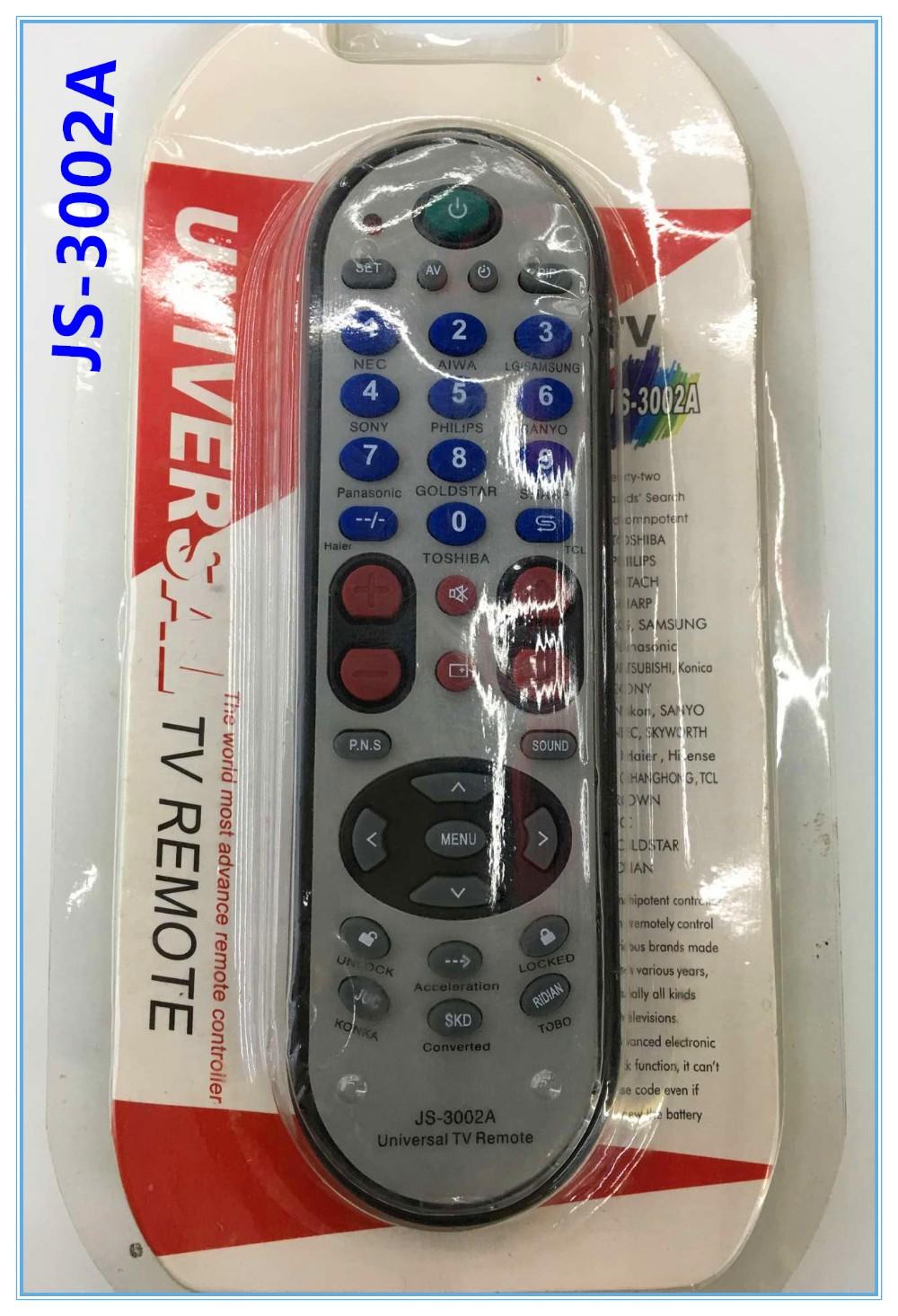 36 Keys High Quality Js-3002a Universal Tv Remote Control - Buy Universal  Remote Controller,Rca Universal Tv Remote Codes,Condor Universal Tv Remote