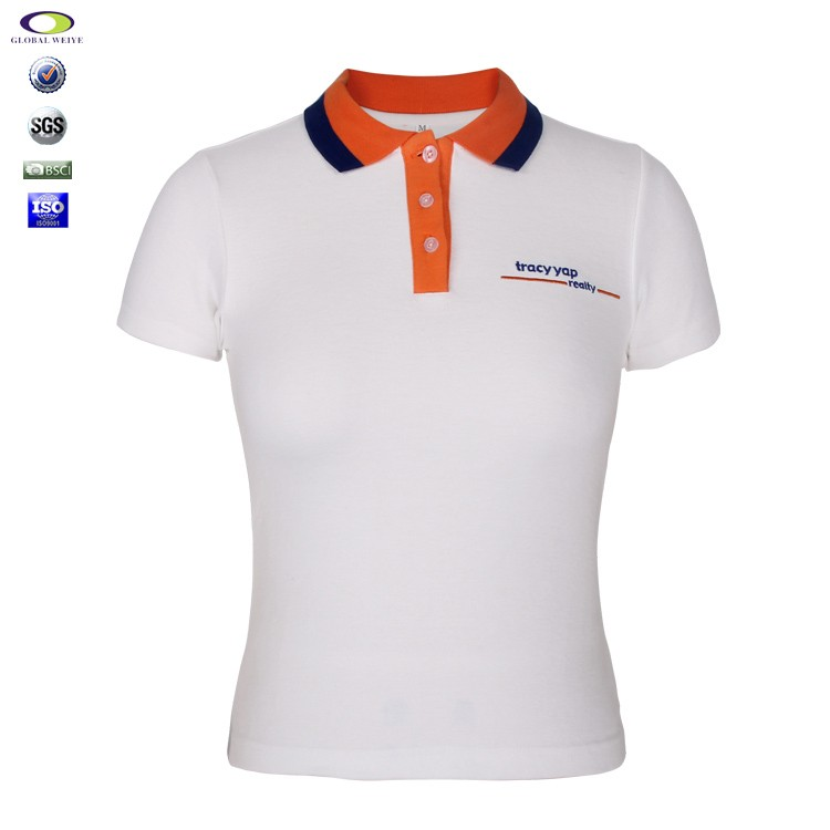 womens office uniform design embroidered polo shirts