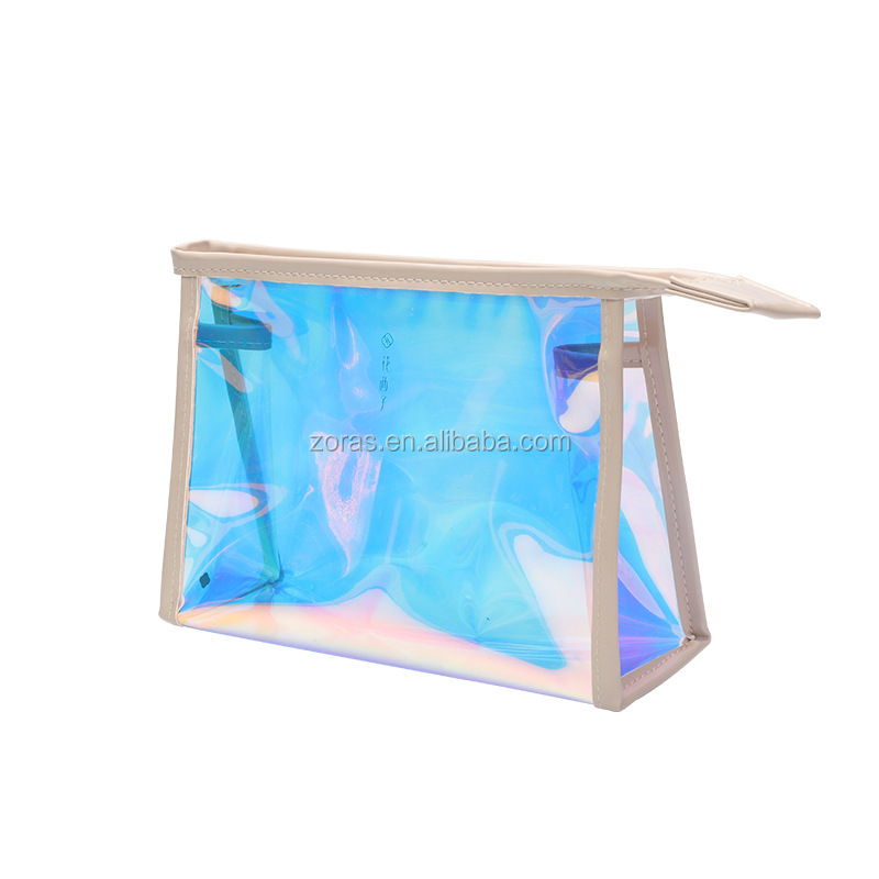 Stock Design NO MOQ holographic PVC Shining Bag