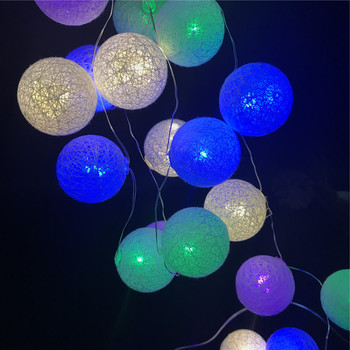 Indoor Outdoor waterproof Cotton ball Room Copper Wire LED Christmas Fairy Twinkling Decorative String Light