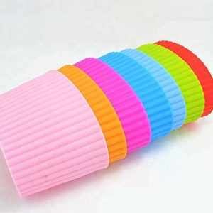 OEM Assorted Colors Recycled Silicone Coffee Sleeve cup sleeve