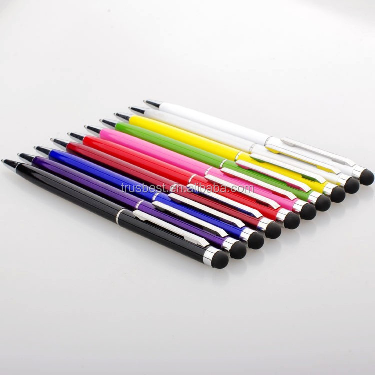 2018 new style promotional Metal stylus ball pen , colorful metal stylus pen , screen touch ball pen