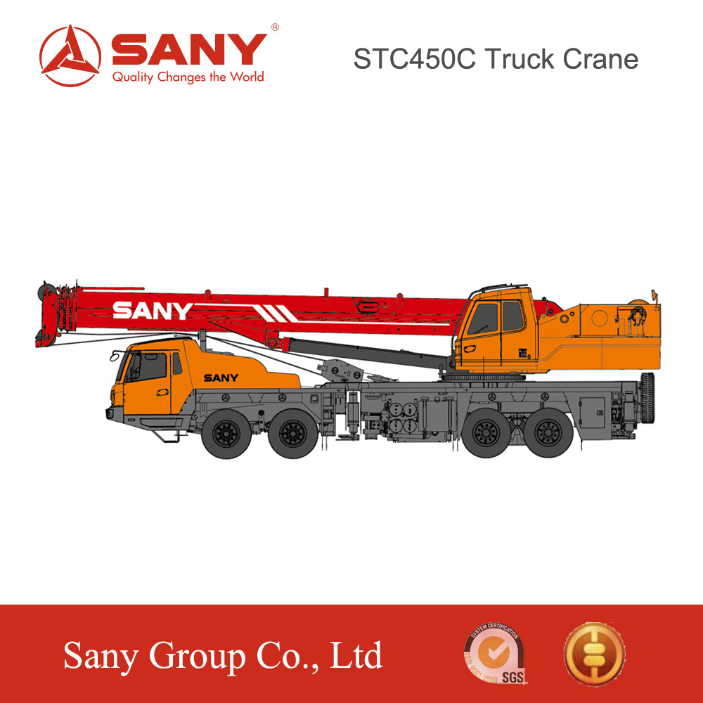 SANY STC450C 45 Tons Truck Luffing Lattice Jib of Mounted Crane Used in Unit State