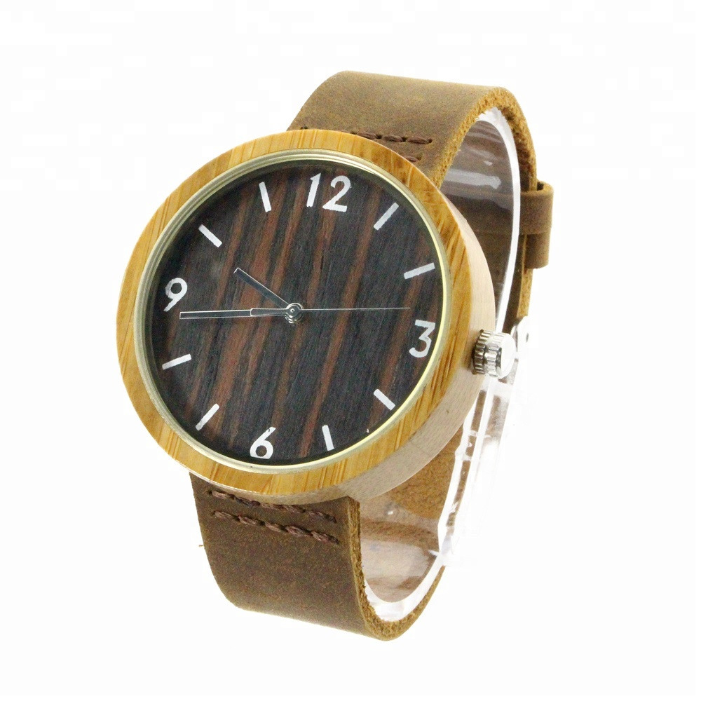 Wrist Watches Chinese Numbers Round Hot Sale Quartz Vintage Best Cheap Bamboo Watch Men