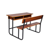 attached school furniture double students table with bench