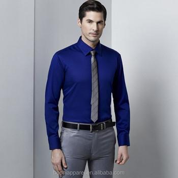 0c3ce54d4302 Men Plain Blue Shirt Dress Shirt For Sale
