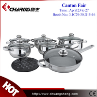 High Quality Palm Restaurant Cookware,Stainless Steel Cookware Set Kitchen