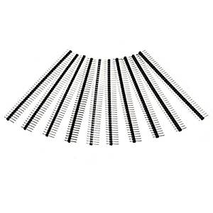 BephaMart 10 Pcs 40 Pin 2.54mm Single Row Male Pin Header Strip For Arduino Shipped and Sold by BephaMart