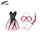 2018 Popular Scuba Gear Silicone Full Face Mask Diving Snorkel Set