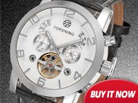 Jargar Automatic Movement Top Brand Stainless Steel High end Tourbillion watches
