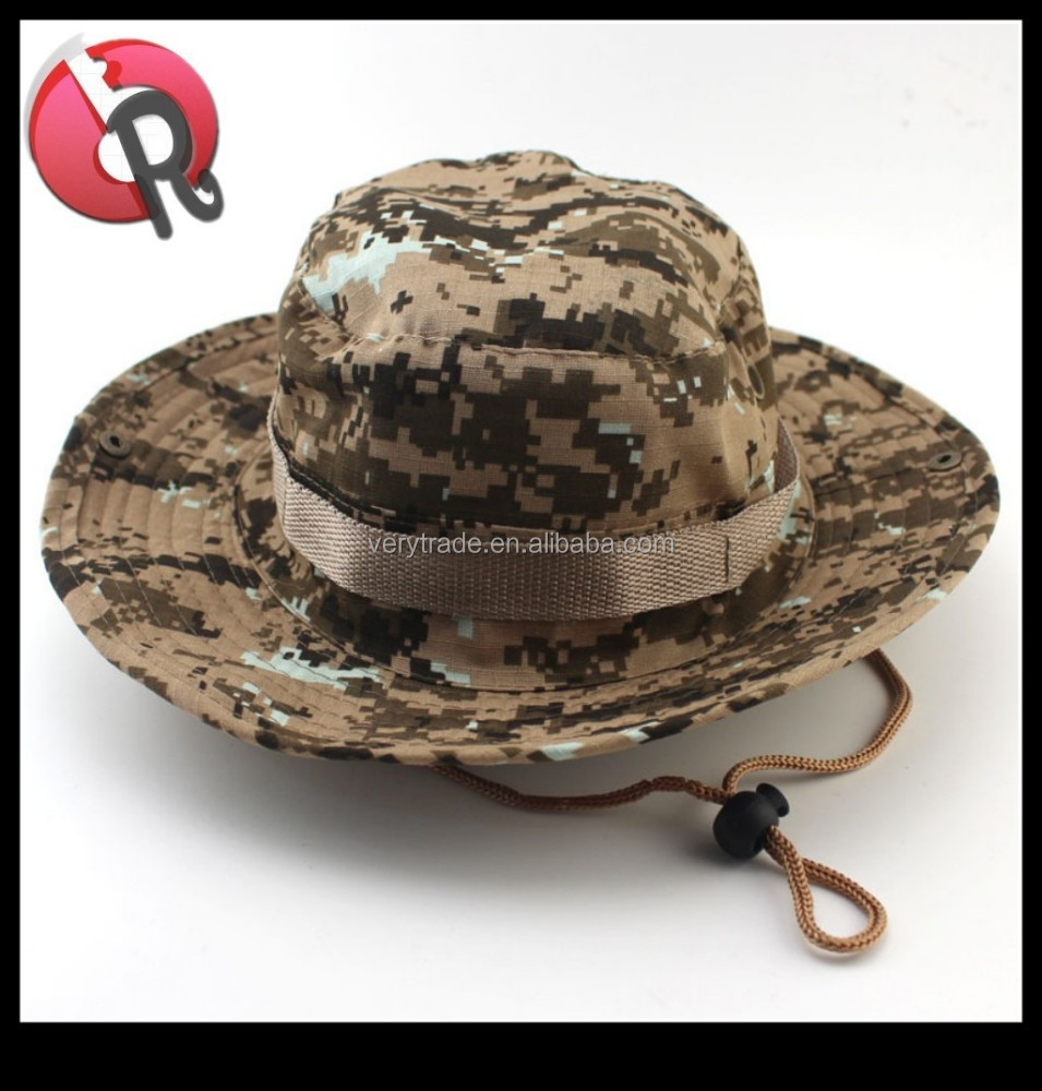 76758d3551e7e6 Men Sun Hat Bucket Hat Boonie Hunting Fishing Outdoor Cap Wide Brim Military  New