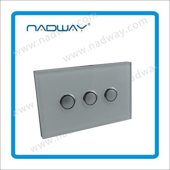 Panel de vidrio interruptores y enchufes relojes de pared - Interruptores y enchufes ...