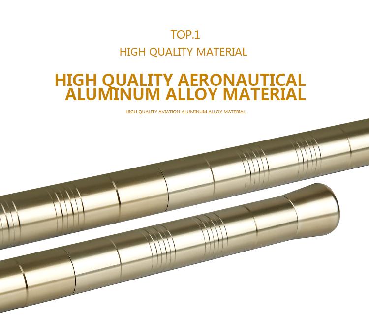 Aluminum Outdoor Survival Folding Multi-function Self-defense Stick