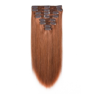 Cheap peruvian remy hair light color clip in hair extension human hair