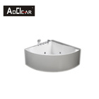 acrylic massage small corner bathtub with shower bath