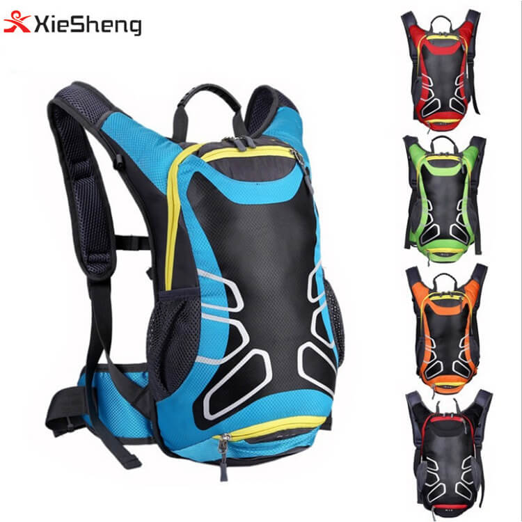 Outdoor Sports Travel Backpack 5 Color Safety Reflective Light Strip Bike Trekking Bag Water Bladder Waterproof Cycling Backpack