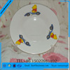 yellow flower porcelain soup plate, enamelled plates, restaurant serving dishes