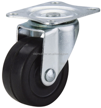 40mm Small Rubber Caster Wheels For Furniture