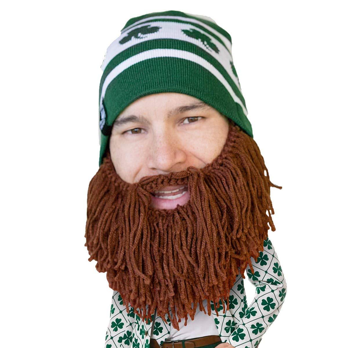 dddc0894246 Get Quotations · Beard Head - The Original Shamrock Knit Beard Hat