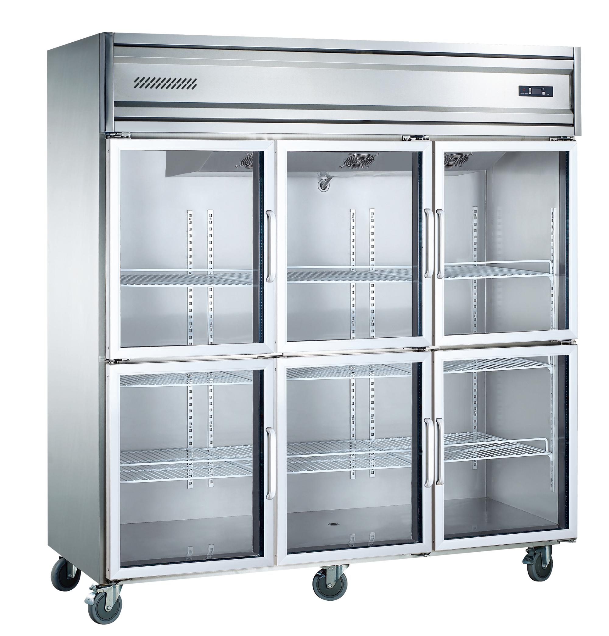 Sumyo Kg16L6W Glass Doors Large Capacity Restaurant Kitchen Refrigerator