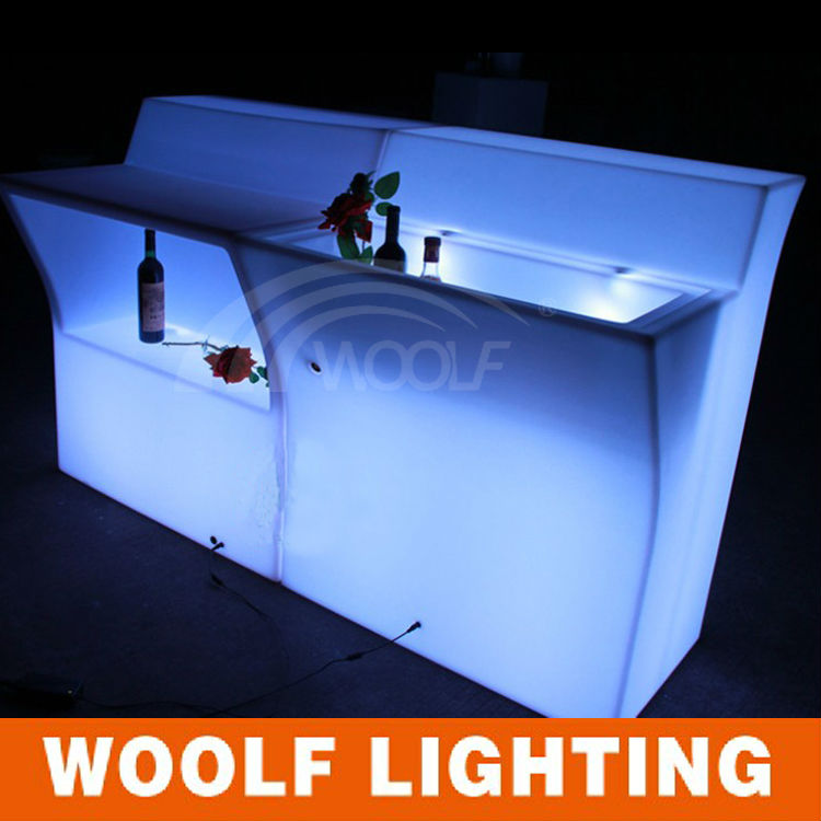 club meubelen led tafel led verlichting draagbare bar mobiele led bar