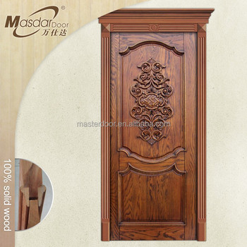 Simple teak wood front door designs in moroccan buy for Entrance teak door designs