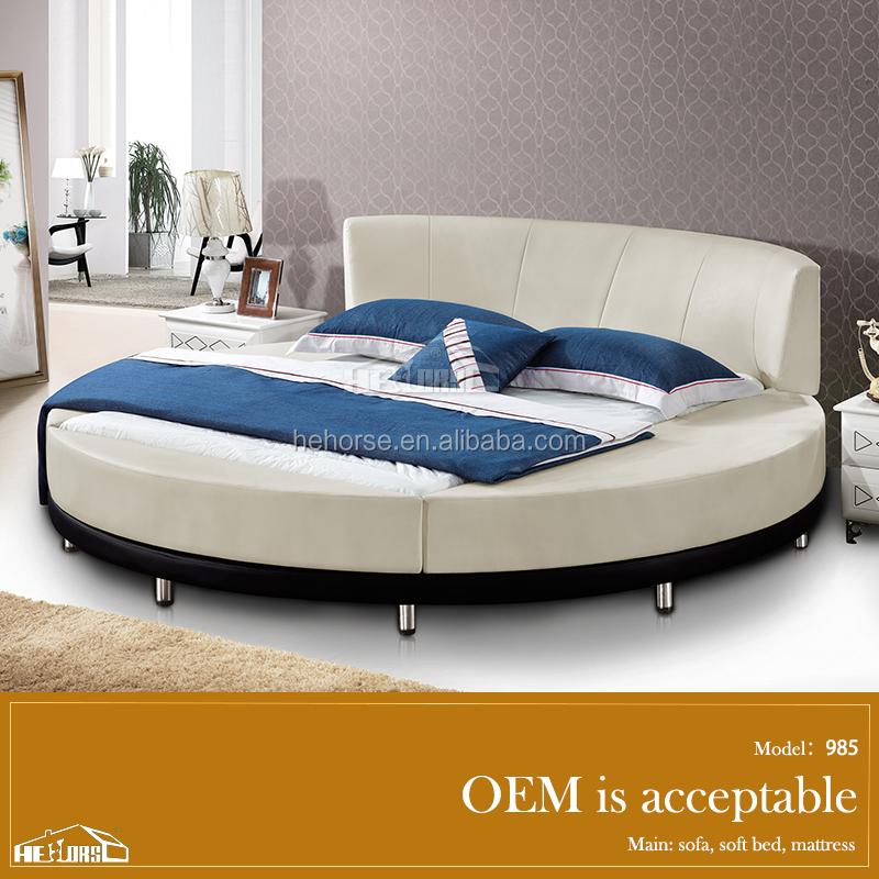 mobilier chambre moderne lit rond meubles de chambre coucher luxe king size lit rond en - Set De Chambre King Noir