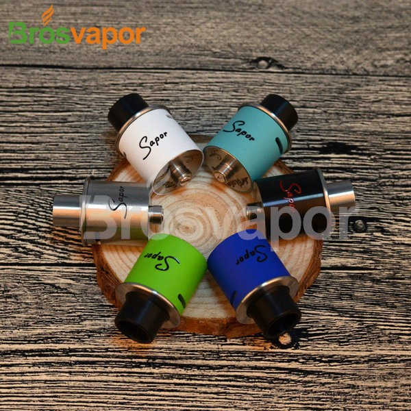 USA designed by wotofo Vaporizer pink/Green/Blue Sapor rda, original rda Sapor with wide bore drip cap and 510 drip tip