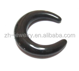 Lowest cost natural stone jewelry black onyx lantern carved beads